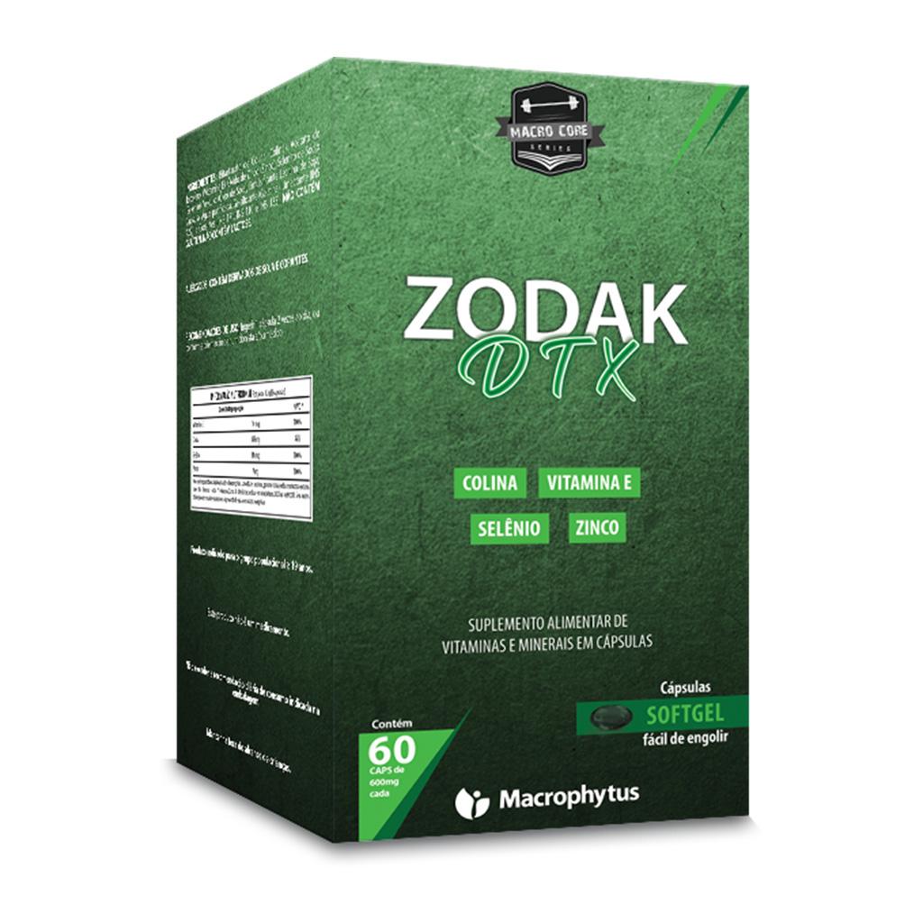 Zodak Detox 600mg 60 cápsulas