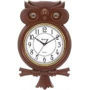 Relógio Parede Coruja Pêndulo Musical Herweg 530006-84