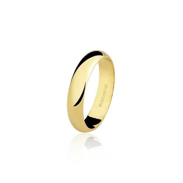 Aliança Casamento 2,5g Ouro 18k Clássica Anatômica 3,5mm