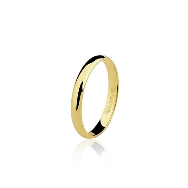 Aliança  Casamento 3,6g Ouro 18k Clássica Anatômica 3,4mm