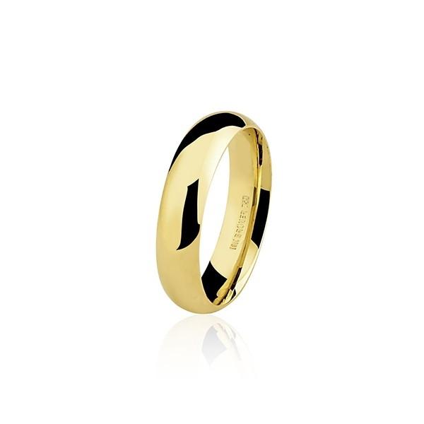Aliança Casamento 4,4g Ouro 18k Clássica  Anatômica 4,5mm
