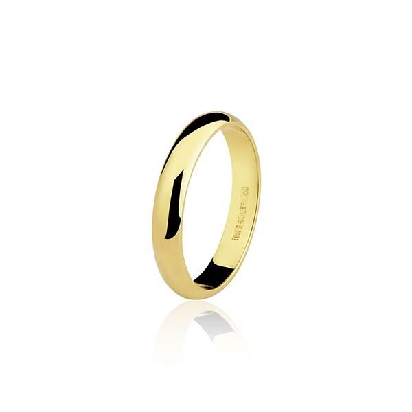 Aliança  Casamento 5,9g Ouro 18k Clássica Anatômica 4,3mm