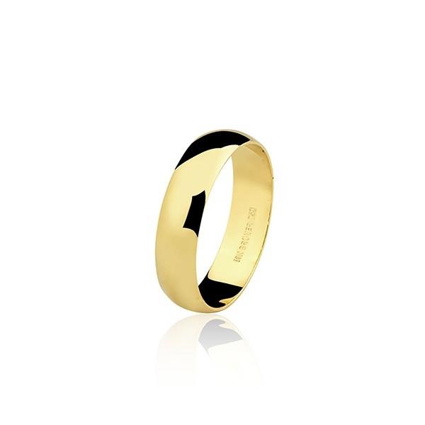 Aliança Casamento Ouro 18k Clássica 3,7g 5mm