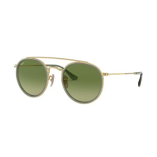 Óculos de Sol Ray Ban RB3647N 91224M Round Double Bridge Verde Original