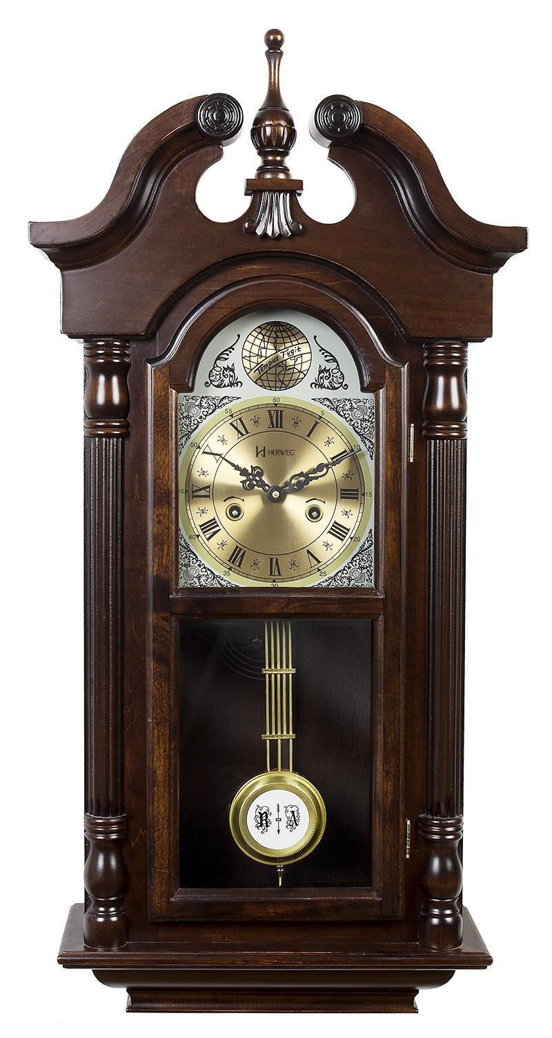 Relógio De Parede Carrilhão Corda Com Pêndulo 5355 Herweg