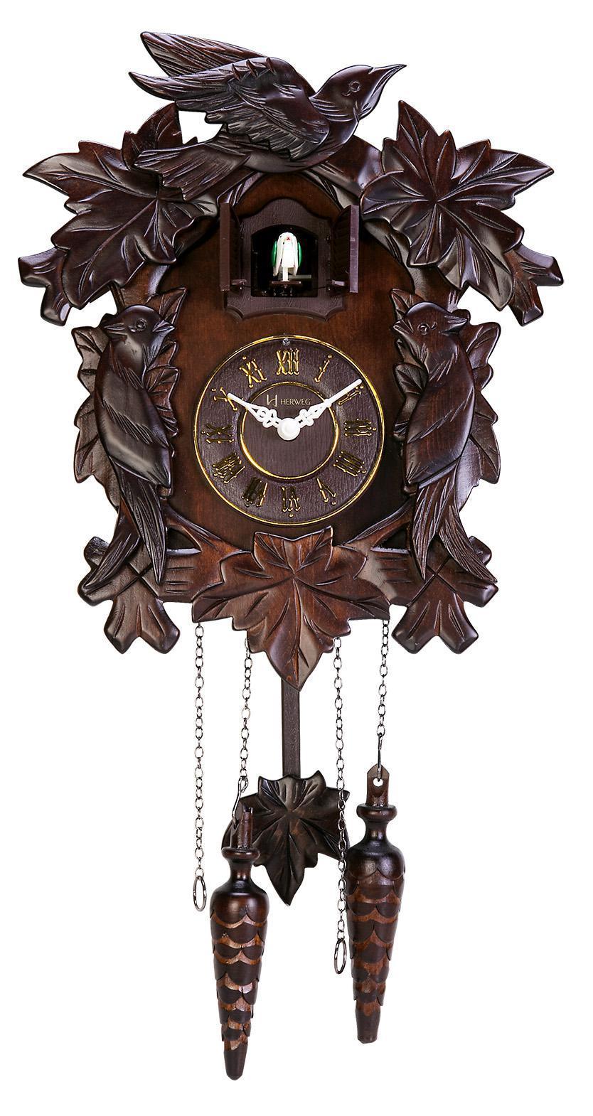 Relógio De Parede Cuco Madeira Ipê Herweg