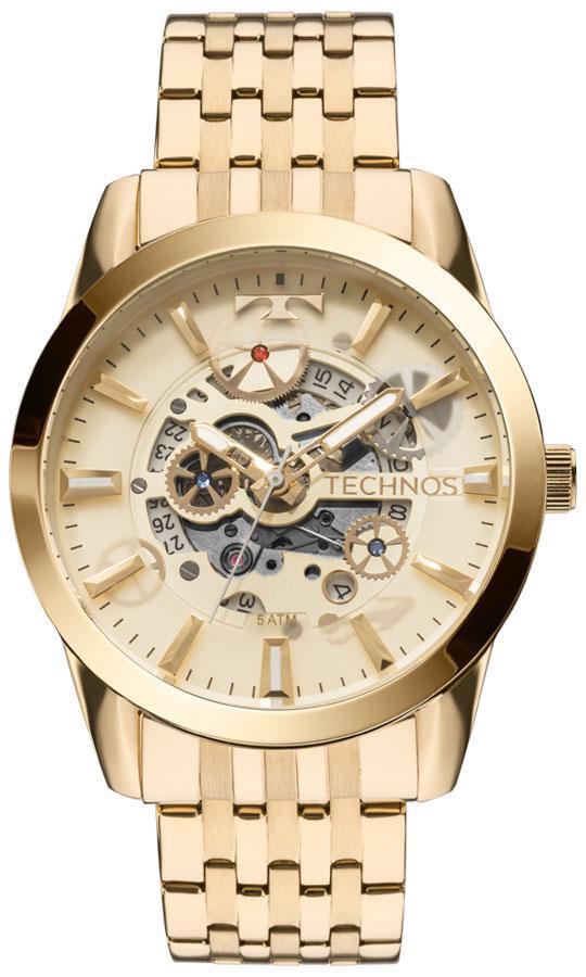 Relógio Technos Masculino Automático 8205Nq/4X Esqueleto