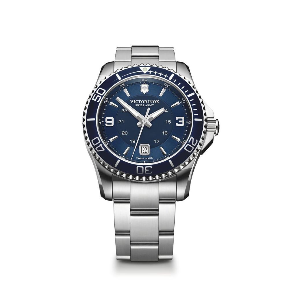 Relógio Victorinox 241602 Maverick Gs Large Prata Original
