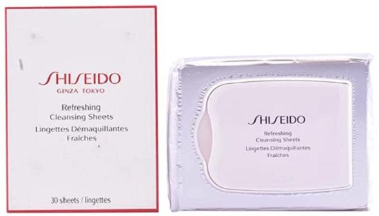 Shiseido Lenço de limpeza Pureness Refreshing Cleansing Sheets Oil Free 30 unid.