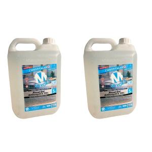 2 UN Álcool Gel Antisséptico para Mãos 70% INPM 5 litros Meyors