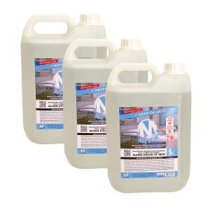 3 UN Álcool Líquido Etílico Hidratado 70° INPM 5 litros Meyors