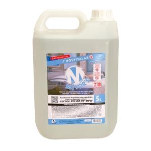 4 UN Álcool Líquido Etílico Hidratado 70° INPM 5 litros Meyors