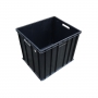 Caixa plástica fechada empilhável preta mod. 1033 Marfinite