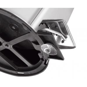 Lixeira inox com pedal Tramontina Brasil acabamento polido balde interno removível 12 litros