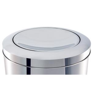 Lixeira Inox com Tampa Basculante Flip Top 47 litros Ø 30 x 70 cm Decorline Brinox
