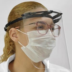 Máscara Protetora Facial Face Shield em polietileno atóxico em PET cristal