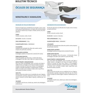 Óculos de Segurança Minotauro Incolor Plastcor