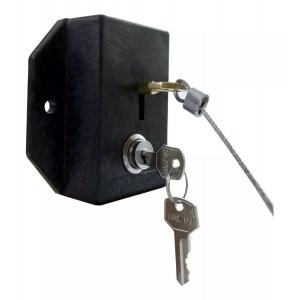 Trava de Controle para Carrinhos de Condomínio com Chave Travacar