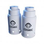kit 02 Abafador Branco Pequeno/Médio em Alumínio com Design Moderno e Minimalista - Cosmic