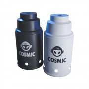 kit 02 Abafador Branco/Preto Pequeno/Médio em Alumínio com Design Moderno e Minimalista - Cosmic