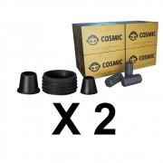 Kit 02 Borrachas de Vedação para Stem e Carvão de Coco 2kg - Cosmic