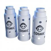 kit 03 Abafador Branco Grande em Alumínio com Design Moderno e Minimalista - Cosmic