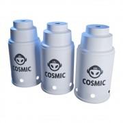 kit 03 Abafador Branco Pequeno/Médio em Alumínio com Design Moderno e Minimalista - Cosmic