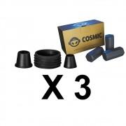 Kit 03 Borrachas de Vedação para Stem e Carvão de Coco 250g - Cosmic