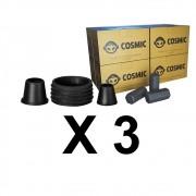 Kit 03 Borrachas de Vedação para Stem e Carvão de Coco 2kg - Cosmic