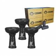 Kit 03 Rosh Av Cerâmica Estilo Oriente Preto e Carvão de Coco 2kg - Cosmic