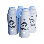 kit 04 Abafador Branco Grande em Alumínio com Design Moderno e Minimalista - Cosmic