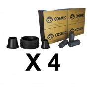 Kit 04 Borrachas de Vedação para Stem e Carvão de Coco 1kg - Cosmic