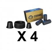 Kit 04 Borrachas de Vedação para Stem e Carvão de Coco 250g - Cosmic