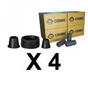 Kit 04 Borrachas de Vedação para Stem e Carvão de Coco 2kg - Cosmic
