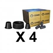 Kit 04 Borrachas de Vedação para Stem e Carvão de Coco 4kg - Cosmic