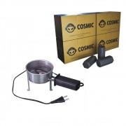 Kit Acendedor Fogareiro Elétrico 110V e Carvão de Coco 250g - Cosmic
