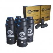 kit Carvão de Coco 1kg Longa Duração e 04 Abafador Preto Grande em Alumínio - Cosmic