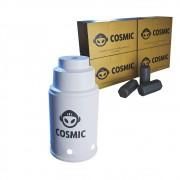 kit Carvão de Coco 1kg Longa Duração e Abafador Branco Pequeno/Médio em Alumínio - Cosmic