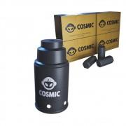 kit Carvão de Coco 1kg Longa Duração e Abafador Preto Pequeno/Médio em Alumínio - Cosmic
