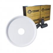 kit Carvão de Coco 1kg Longa Duração e Prato Branco  em Alumínio - Cosmic