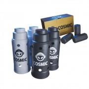 kit Carvão de Coco 250g Longa Duração e 04 Abafador Branco/Preto Grande em Alumínio - Cosmic