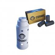 kit Carvão de Coco 250g Longa Duração e Abafador Branco Grande em Alumínio - Cosmic