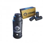 kit Carvão de Coco 250g Longa Duração e Abafador Preto Grande em Alumínio - Cosmic