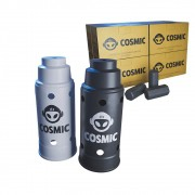 kit Carvão de Coco 2kg Longa Duração e 02 Abafador Branco/Preto Grande em Alumínio - Cosmic
