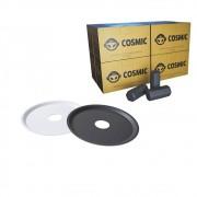 kit Carvão de Coco 2kg Longa Duração e 02 Prato Branco/Preto  em Alumínio - Cosmic