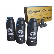 kit Carvão de Coco 2kg Longa Duração e 03 Abafador Preto Grande em Alumínio - Cosmic