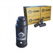 kit Carvão de Coco 2kg Longa Duração e Abafador Preto Grande em Alumínio - Cosmic
