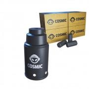 kit Carvão de Coco 2kg Longa Duração e Abafador Preto Pequeno/Médio em Alumínio - Cosmic