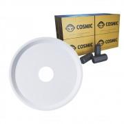 kit Carvão de Coco 2kg Longa Duração e Prato Branco  em Alumínio - Cosmic