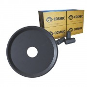 kit Carvão de Coco 2kg Longa Duração e Prato Preto  em Alumínio - Cosmic